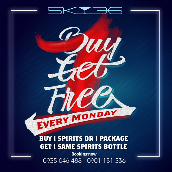 BUY 1 GET 1 FREE (Every Monday)