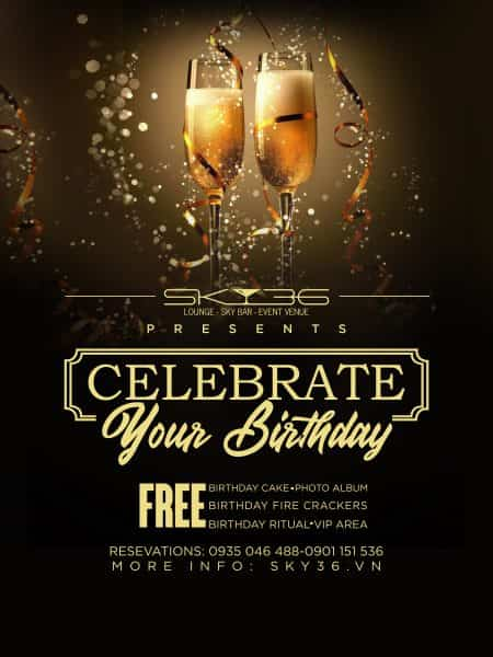 CELEBRATE YOUR BIRTHDAY AT SKY36