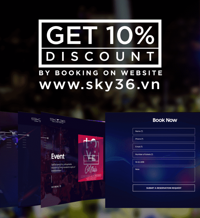 10% DISCOUNT BY BOOKING ON WEBSITE